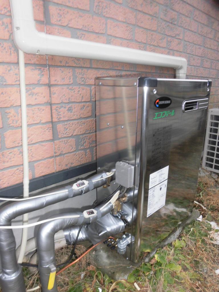 石油給湯器 長府CKX-EF474AF(エコフィール)交換の施工後画像 / 宮城・仙台・山形の給湯器の交換[シマツ]