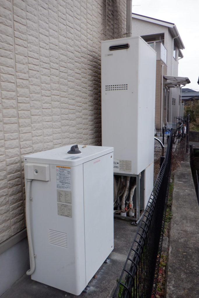 ガス給湯器 リンナイRUF-E2405SAW-TN交換の施工前画像 / 宮城・仙台・山形の給湯器交換[シマツ]